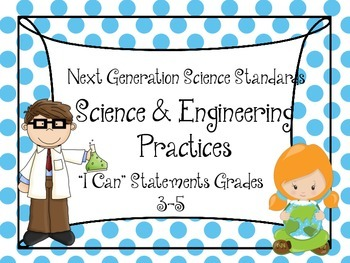 """Printable NGSS """"I Can..."""" Posters"""