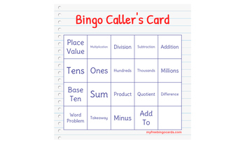 Printable ---- New! 31 Math Bingo Sheets