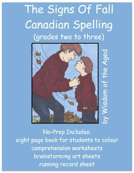 Printable No Prep Story - Fall (Canadian Spelling)