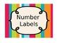 Printable Number Labels