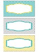 Printable Blank Labels in Yellow Teal and Gray