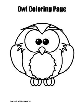Printable Owl Coloring Page Worksheet