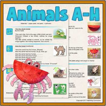Animal Alphabet A-H! 8 Complete Preschool Curriculum Lessons!