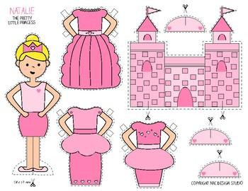 Printable, Paper Dolls, Princess Natalie - Activity