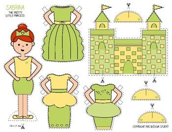 Printable, Paper Dolls, Princess Sabrina - Activity