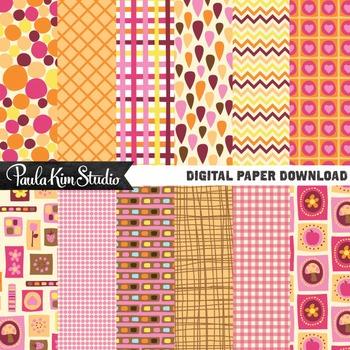 Digital Paper - 70s Retro