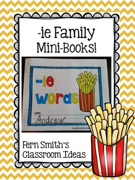 -ie as long i Word Family Quick and Easy to Prep Printable