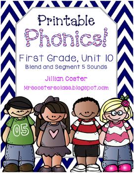Printable Phonics Pack! 1st Grade, Unit 10, Blending and S