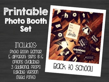 Printable Photo Booth Set