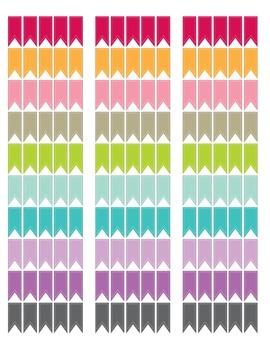 Printable Planner Rainbow Stickers
