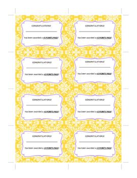 Printable Plus Five Pass