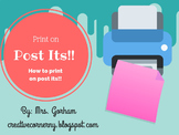 Printable Post It Template (2 x 1.5 inches)