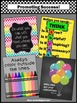Motivational Quotes Set of 4 Colorful Posters for Teacher