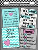 Inspirational Quotes and Classroom Rules Set of 4 Posters