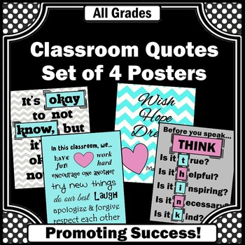 printable classroom rules posters turquoise and pink decor