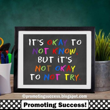 it's okay to not know quote for kids