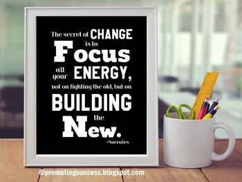 Motivational Poster Inspirational Quote About Change Socra