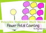 Printable Preschool Flower Petal Counting