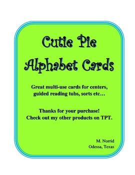 Printable Rainbow Alphabet Cards/Labels