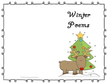 Printable Reading Poetry Poem Book Christmas Winter Poems