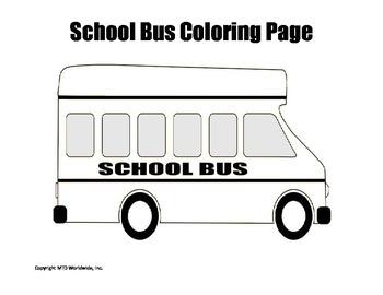 Printable School Bus Coloring Page Worksheet