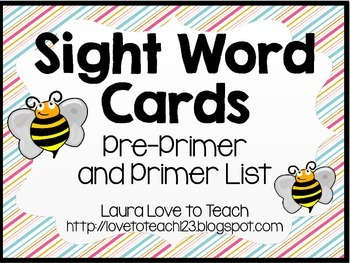 Printable Sight Word Cards