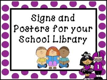 Printable Signs and Posters for your School Library - Foot