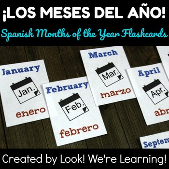 Printable Spanish Months of the Year Flashcards