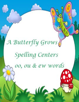 Printable Spelling Activities for oo ou ew words