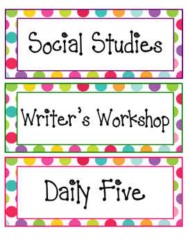 Printable Subject / Agenda Labels