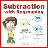 Singapore Math Subtraction Word Problems using Number Bond