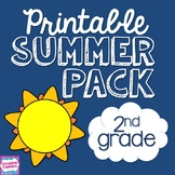 NO PREP Summer Packet for Second Grade