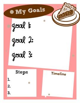 Printable Teacher Goals Poster