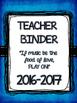 Printable Teacher's Organizer Binder- Royal Blue