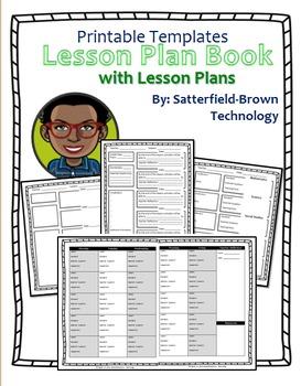 Lesson Plan: Printable PDF Templates - Teacher Plan Book w