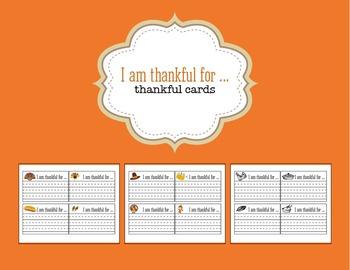 Printable Thankfulness Cards