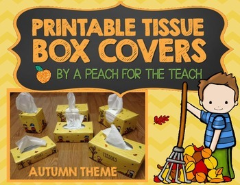 Printable Tissue Box Covers: Fall Theme (includes six size