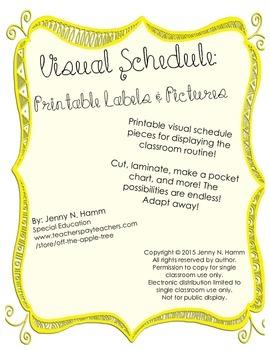 Printable Visual Schedule - cut, laminate, display, and more!