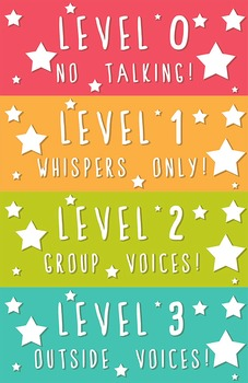 Printable Voice Level Charts - Freebie!