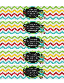 Printable Water Bottle Wrappers