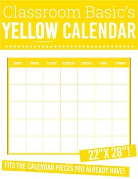 "Printable Yellow Calendar (22""X28""!)"