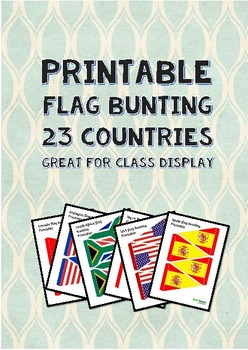 Printable flag bunting booklet