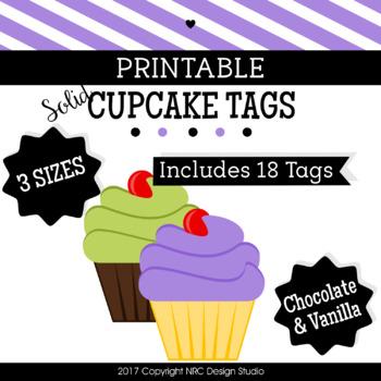 Cupcake Printable, Coloful Cupcakes - Classroom Decoration