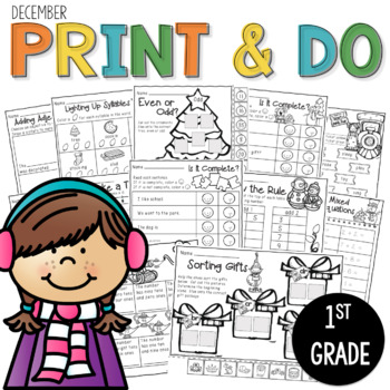 Printables December  Print and Do- No Prep Math & Literacy
