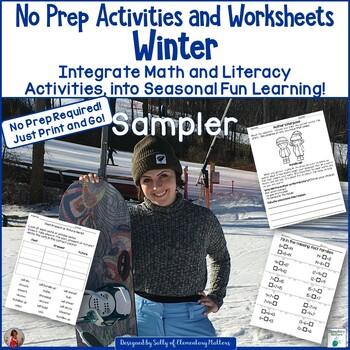 Winter No Prep Printables Freebie - Literacy and Math Fun!