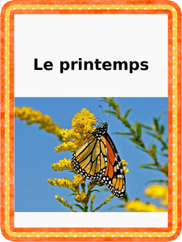 French: Printemps: Cartes éclairs, Core French & French Im