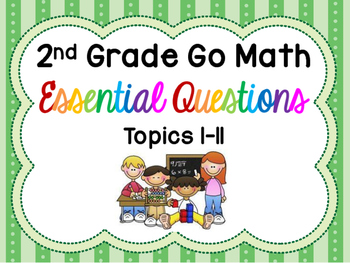 Printer Friendly 2nd Grade Go Math Essential Questions for