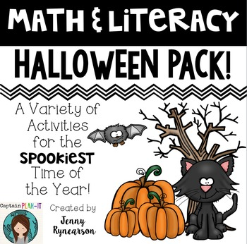 Printer-Friendly Halloween Pack! Math AND Literacy Activit