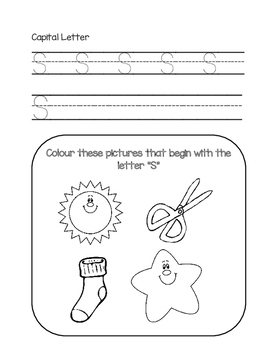 Printing Practice Following Jolly Phonics Order
