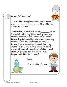 Printing Prince and Princess Awards